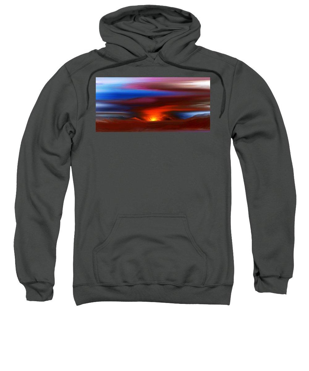 Landscape Sweatshirt featuring the digital art Landscape 081010 by David Lane