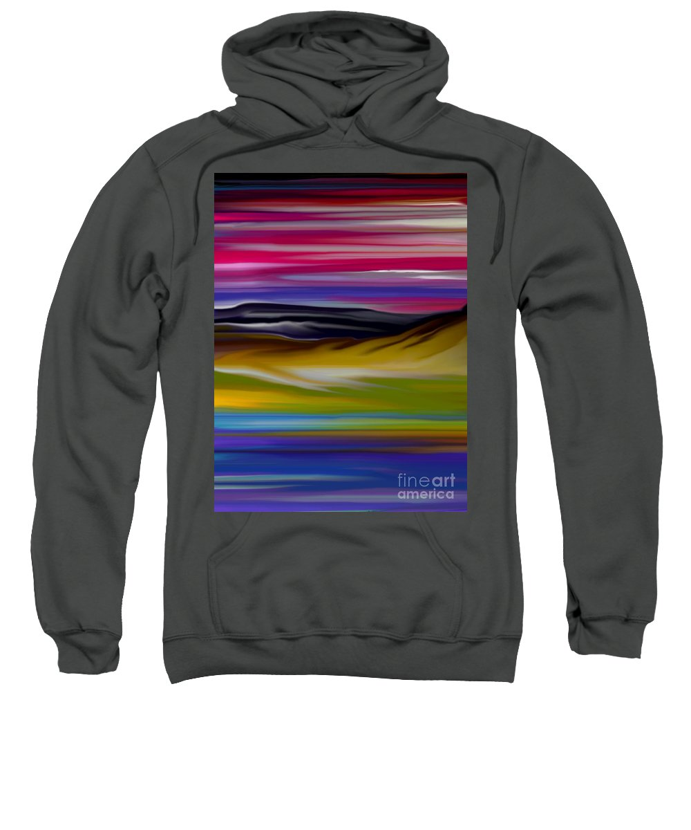 Digital Fantasy Painting Sweatshirt featuring the digital art Landscape 7-11-09 by David Lane