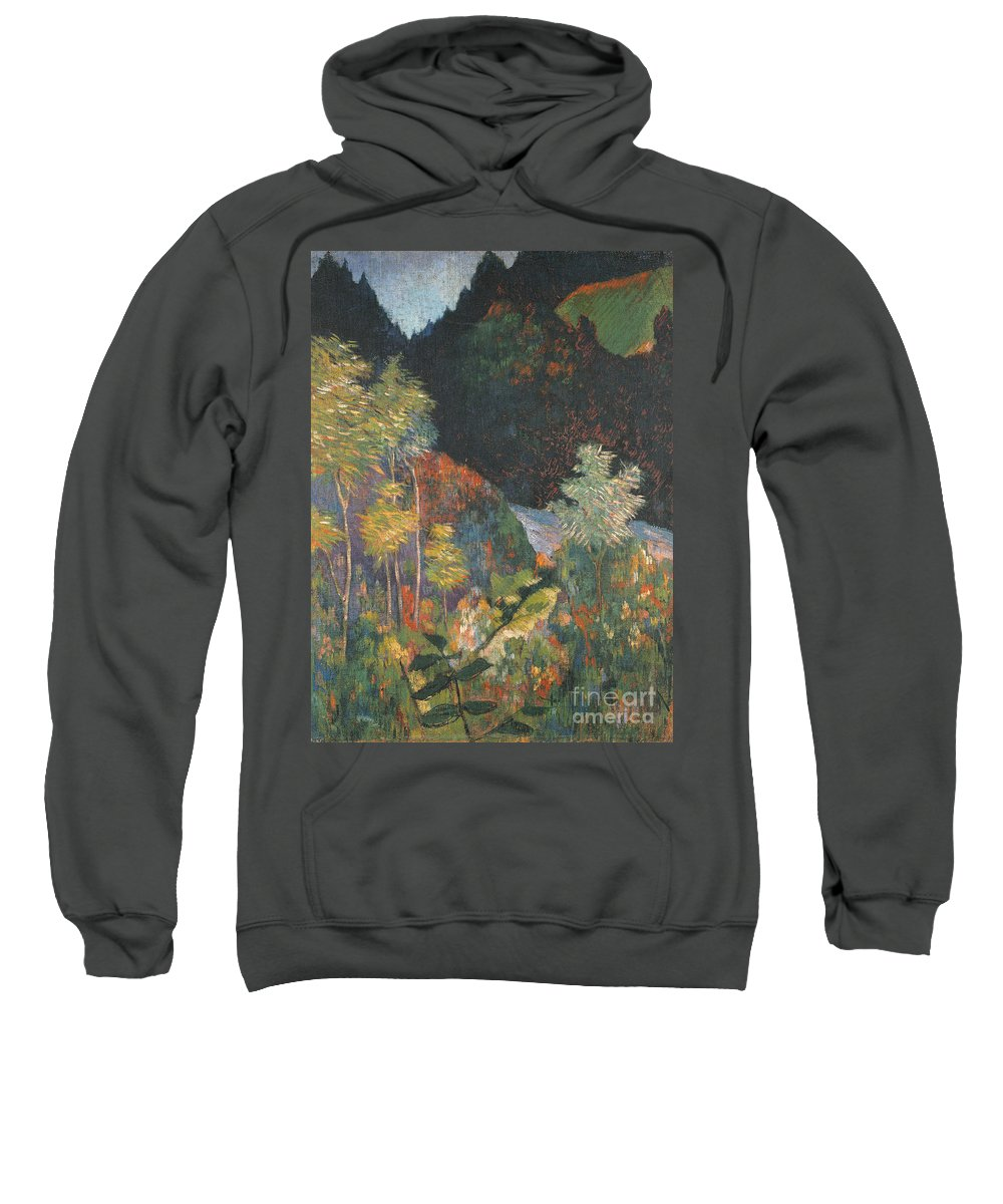 Landscape (oil On Canvas) By Paul Gauguin (1848-1903) Sweatshirt featuring the painting Landscape by Paul Gauguin