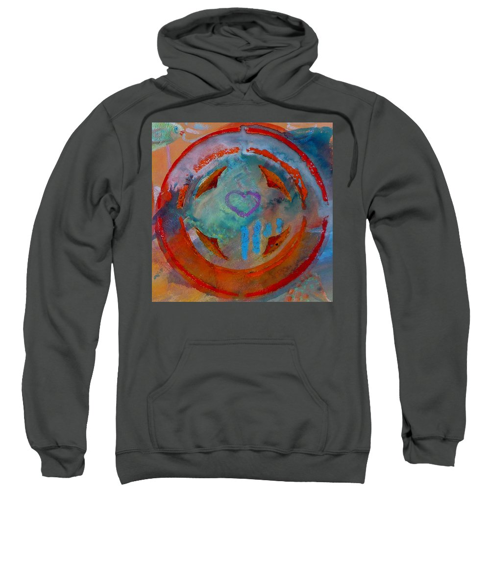 Love Sweatshirt featuring the painting Landscape Seascape by Charles Stuart