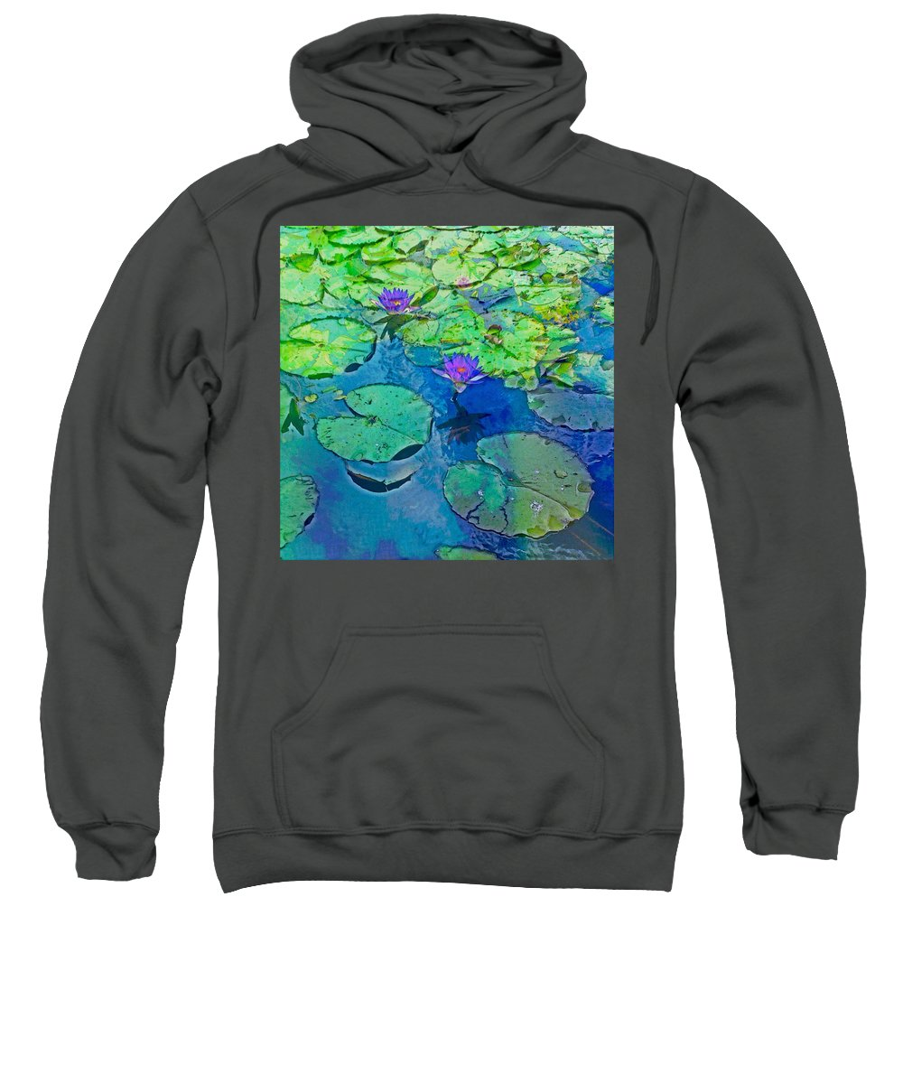 Lotus Sweatshirt featuring the photograph Languid Lagoon by Anthony Robinson
