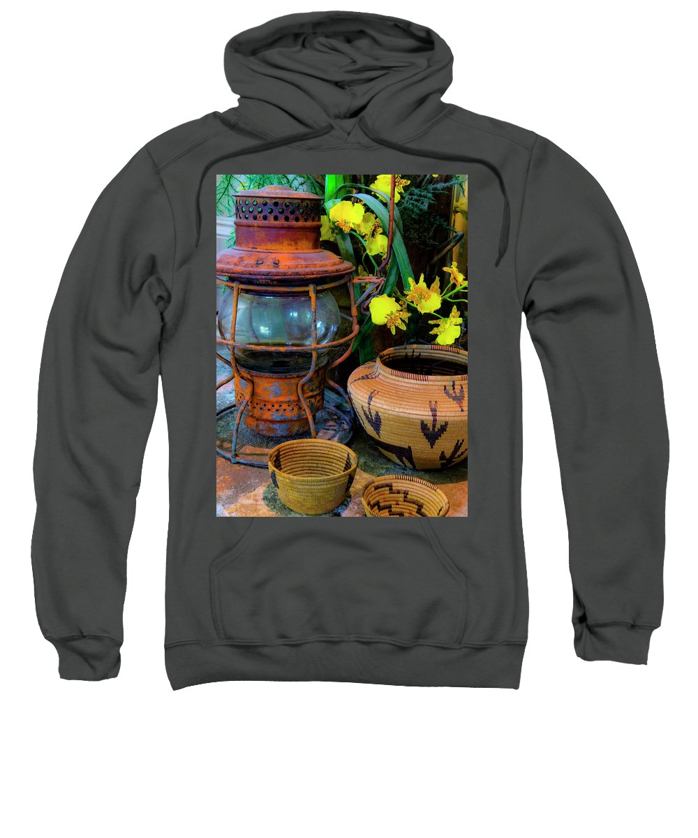 Lantern Sweatshirt featuring the photograph Lantern With Baskets by Stephen Anderson