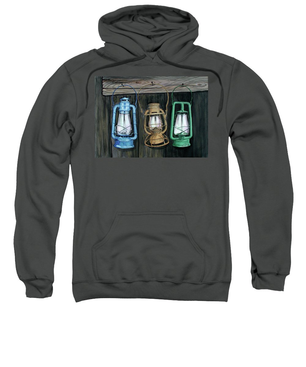 Lanterns Sweatshirt featuring the painting Lanterns by Ferrel Cordle