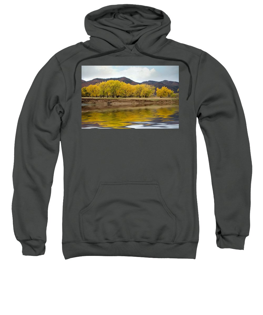 River Sweatshirt featuring the photograph Las Animas Fall by Jerry McElroy