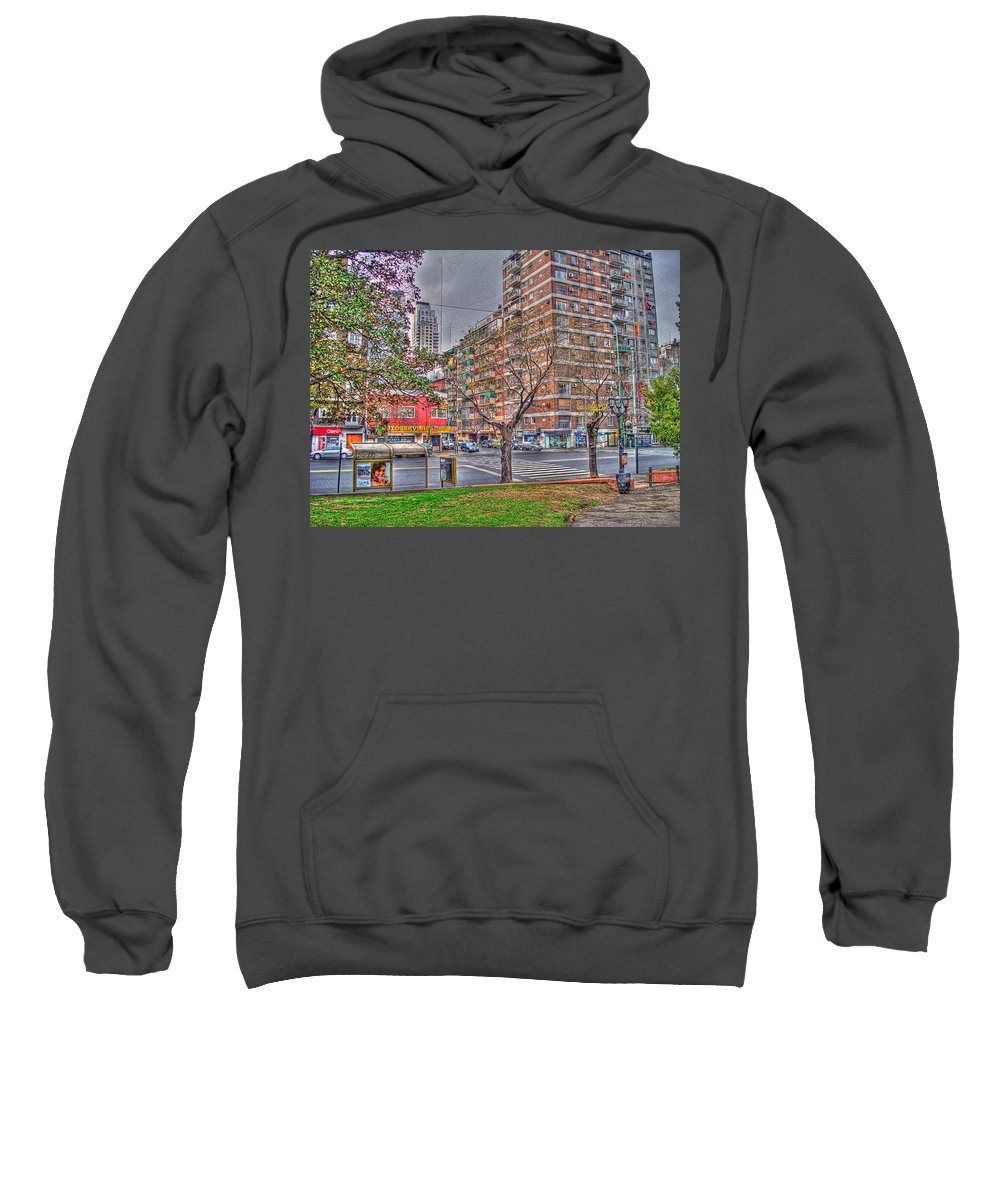 Street Sweatshirt featuring the photograph Las Heras by Francisco Colon