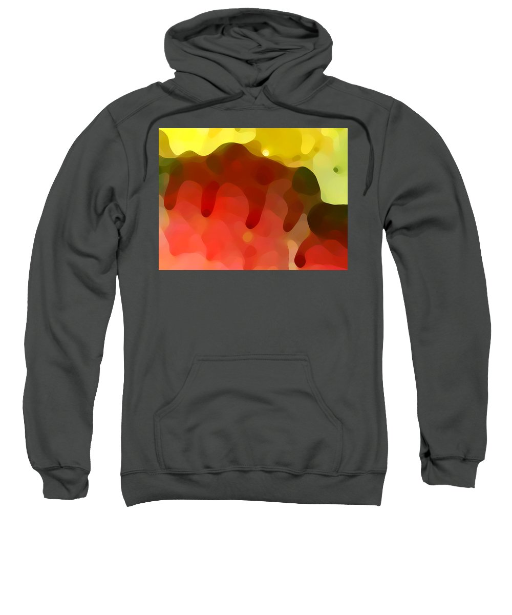 Abstract Sweatshirt featuring the painting Las Tunas Ridge by Amy Vangsgard