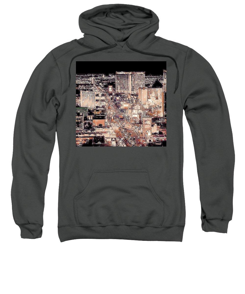Las Vegas Sweatshirt featuring the photograph Las Vegas Never Sleeps by Molly Hanani