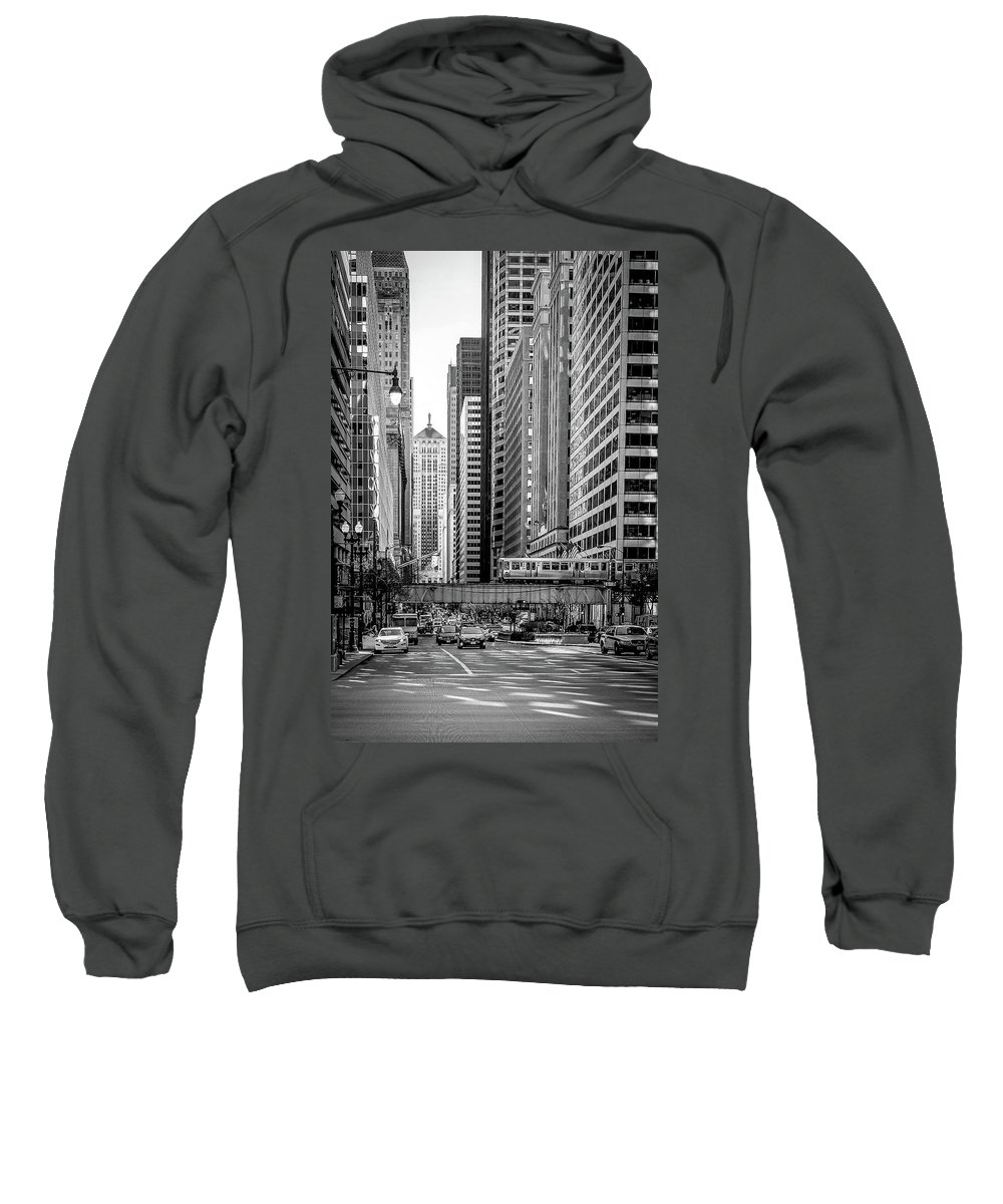 Chicago Sweatshirt featuring the photograph Lasalle Street by Tony HUTSON