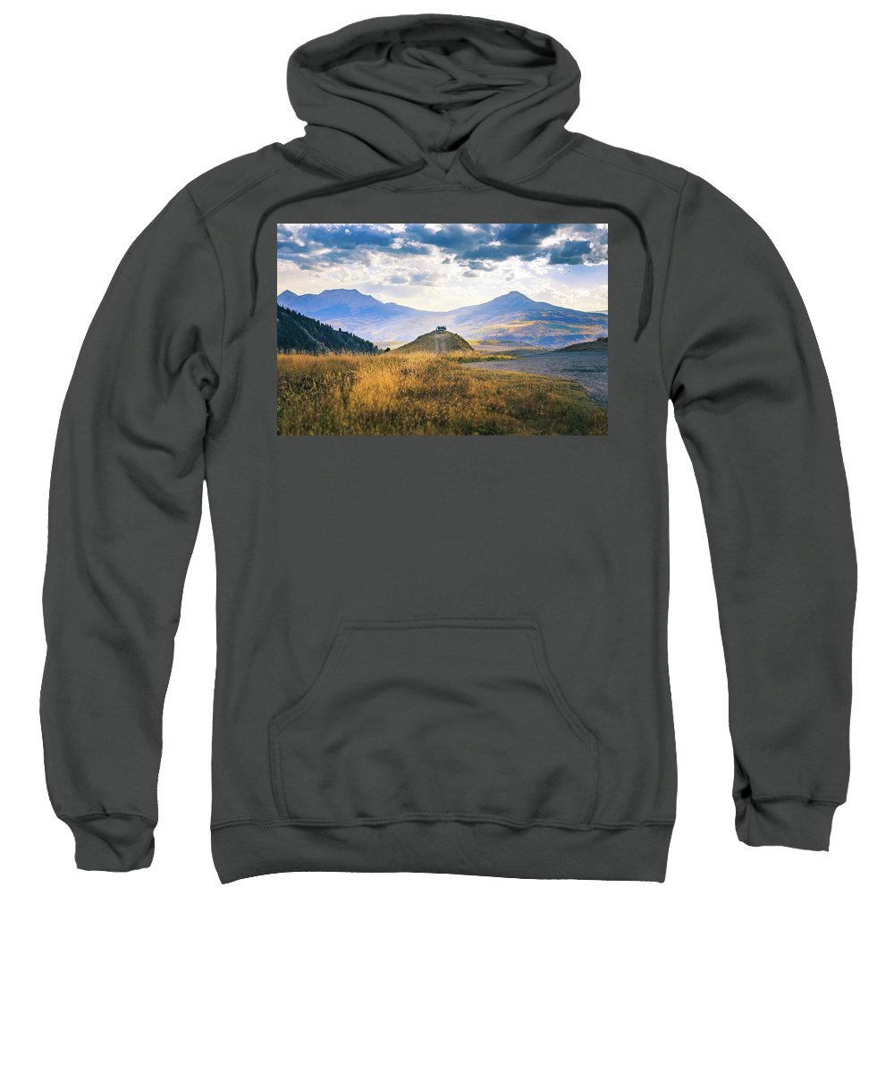 Colorado Sweatshirt featuring the photograph Last Dollar Road by Larry Mcmillian