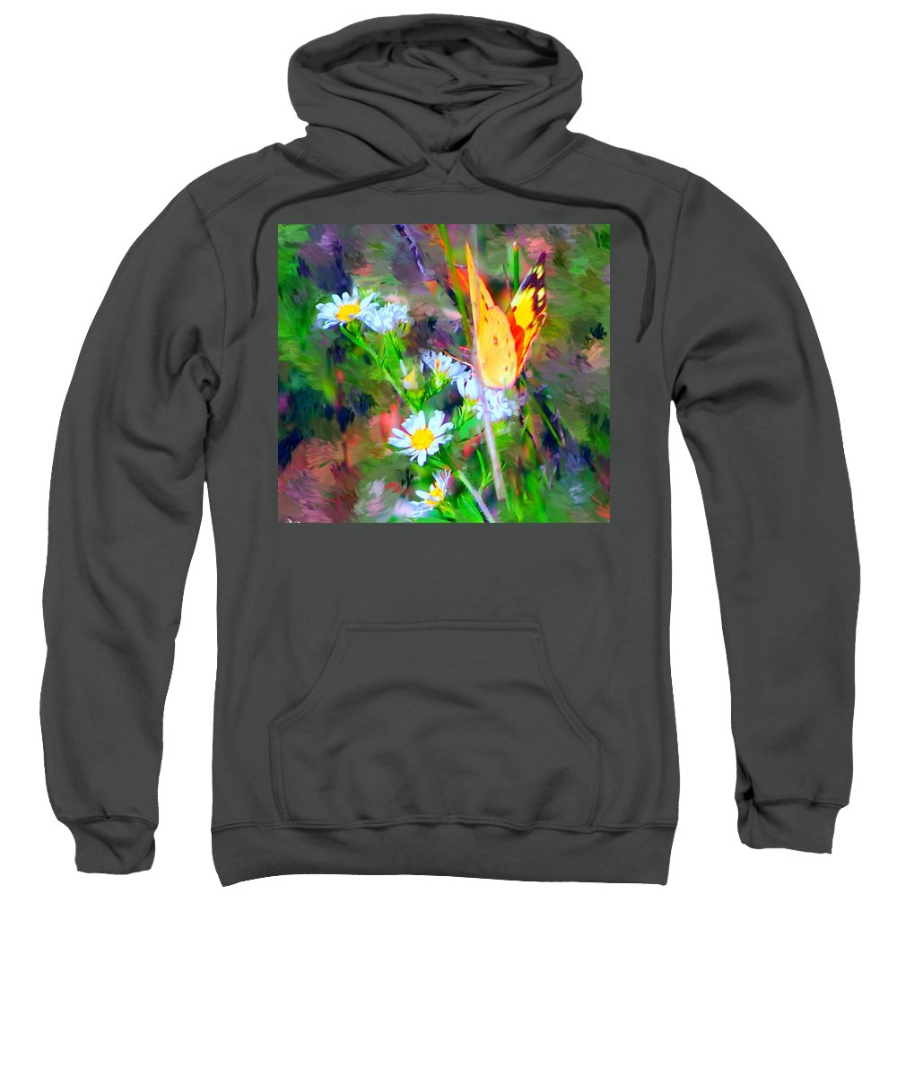 Landscape Sweatshirt featuring the painting Last Of The Season by David Lane