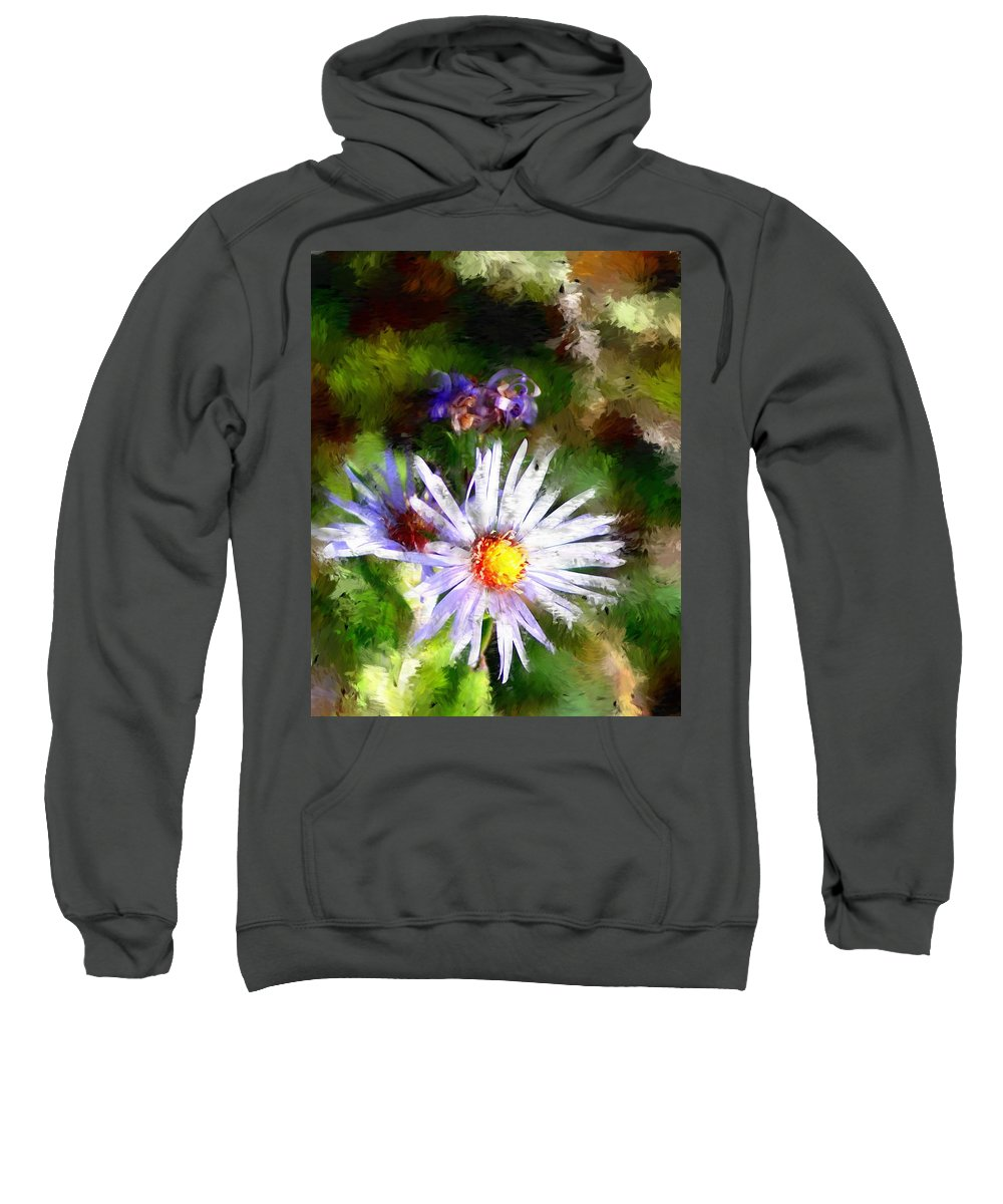 Flower Sweatshirt featuring the photograph Last Rose Of Summer by David Lane