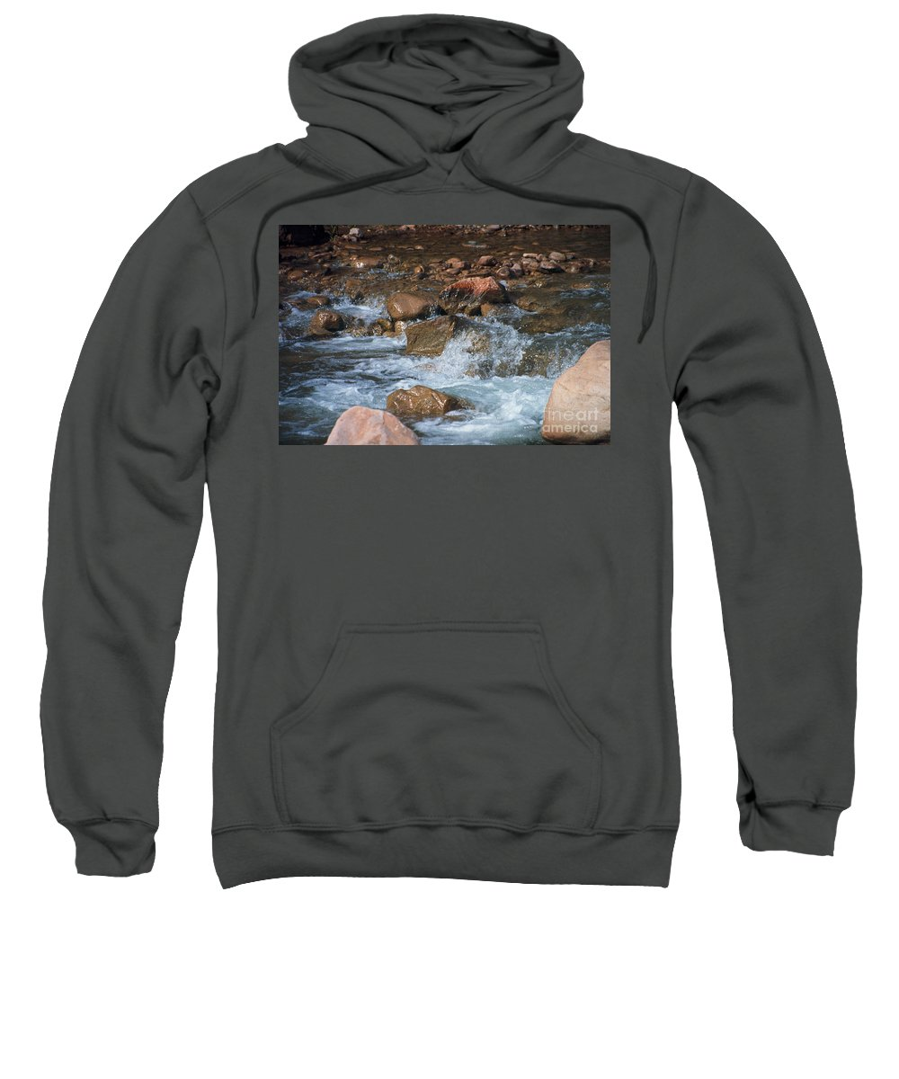 Creek Sweatshirt featuring the photograph Laughing Water by Kathy McClure