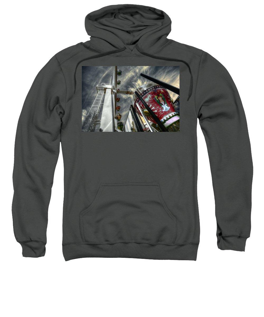 Amusement Sweatshirt featuring the photograph Launch Pad by Wayne Sherriff