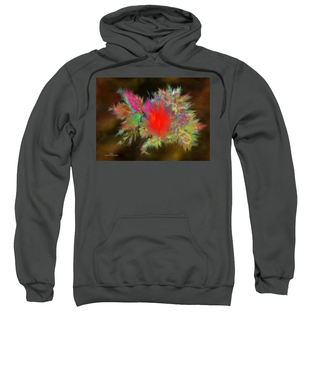 Lave Sweatshirt featuring the digital art Lava Explosion by Pamula Reeves-Barker