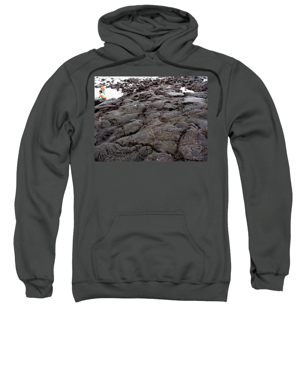 Lava Sweatshirt featuring the photograph Lava Rock Island by Deborah Crew-Johnson