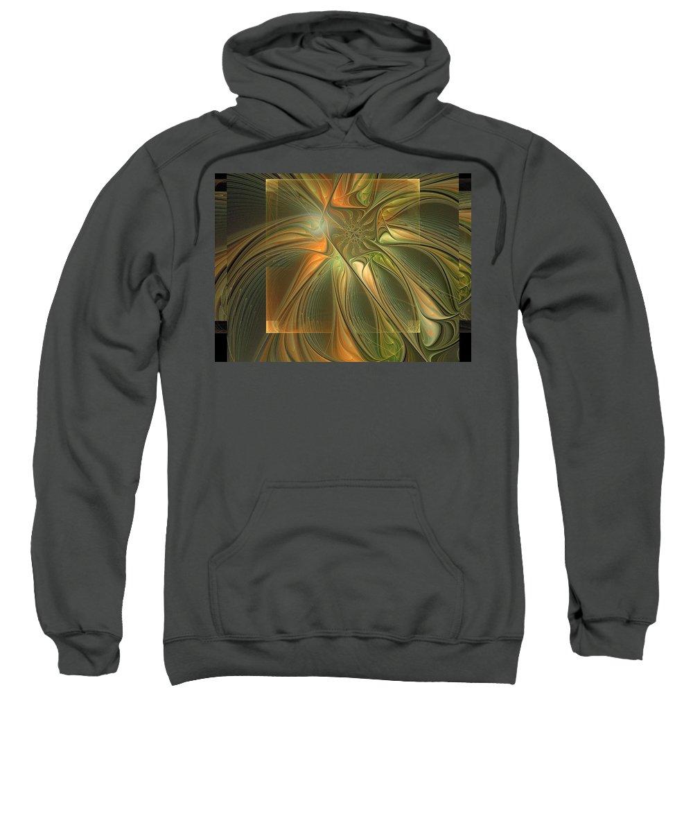 Digital Art Sweatshirt featuring the digital art Layers by Amanda Moore