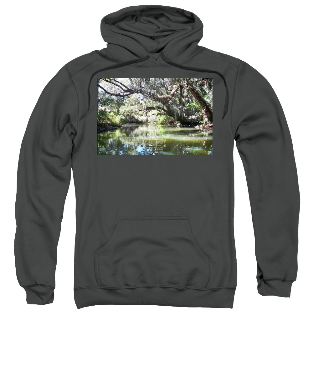 Florida Sweatshirt featuring the photograph Lazy River by Chris Andruskiewicz
