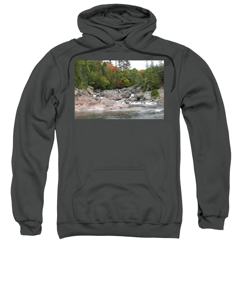 River Sweatshirt featuring the photograph Lazy River by Kelly Mezzapelle