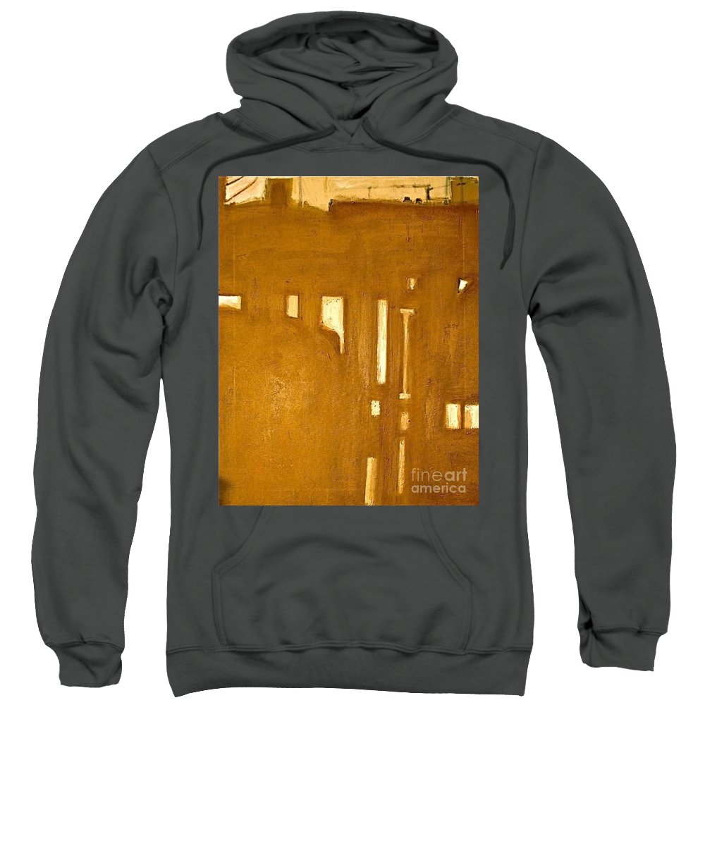 Architecture Sweatshirt featuring the painting Le Berceau D Industrie The Cradle Of Industry by Contemporary Luxury Fine Art
