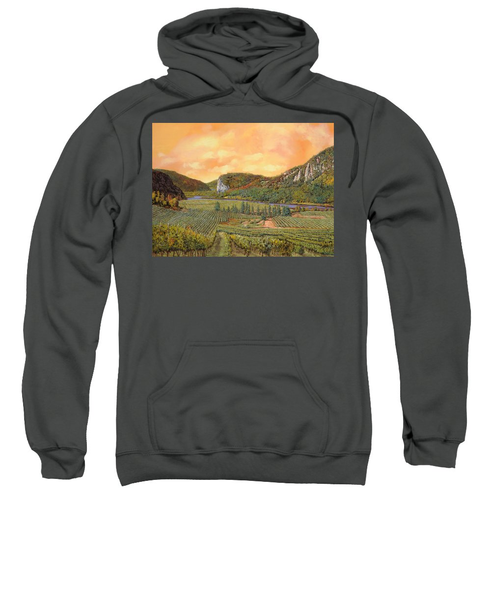 Vineyard Sweatshirt featuring the painting Le Vigne Nel 2010 by Guido Borelli