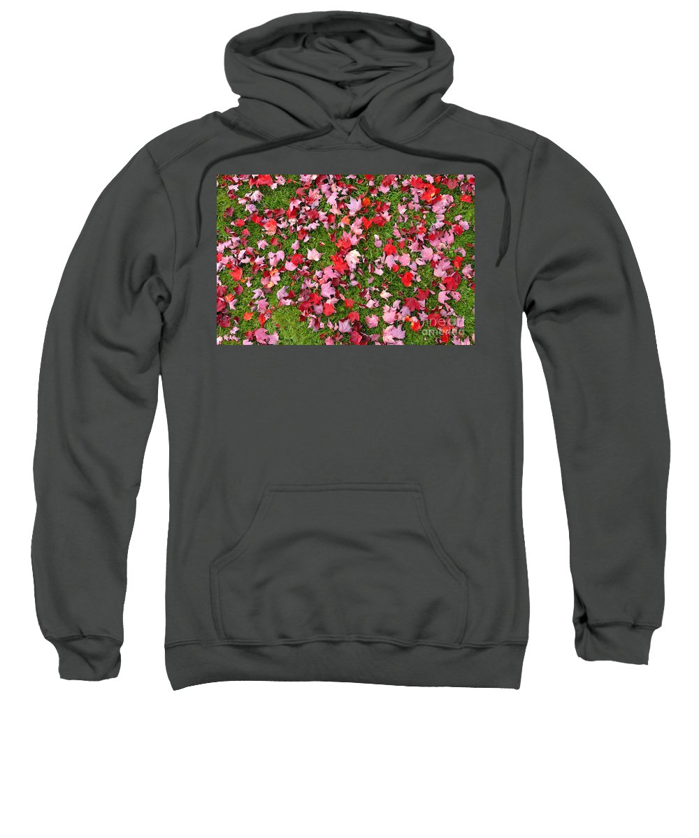Leafs Sweatshirt featuring the photograph Leafs On Grass by David Lee Thompson