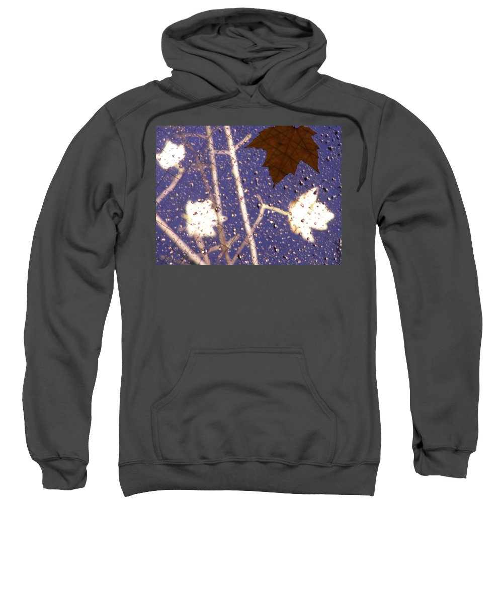 Leaves Sweatshirt featuring the photograph Leaves And Rain 2 by Tim Allen