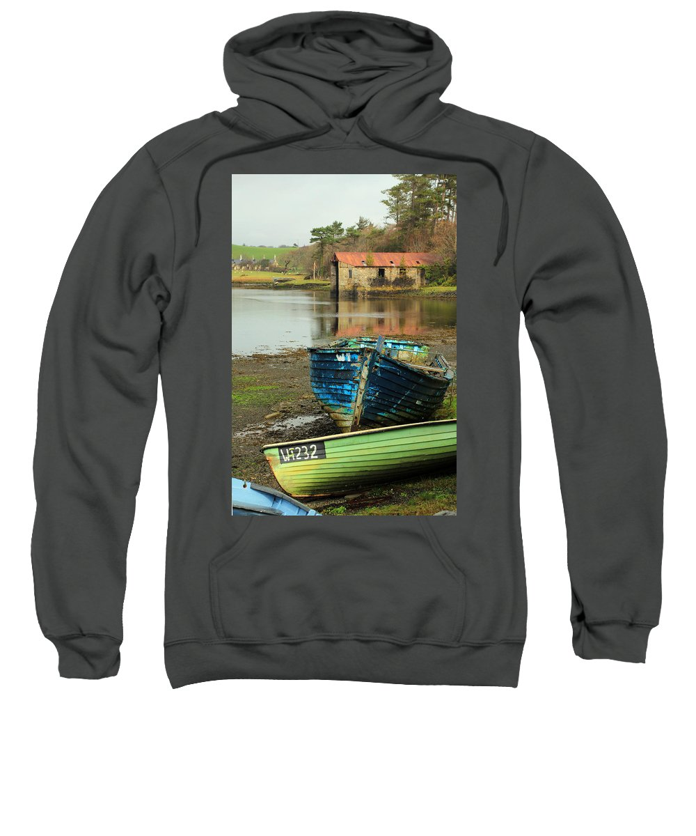 Boats Sweatshirt featuring the photograph Left Behind by Jennifer Robin
