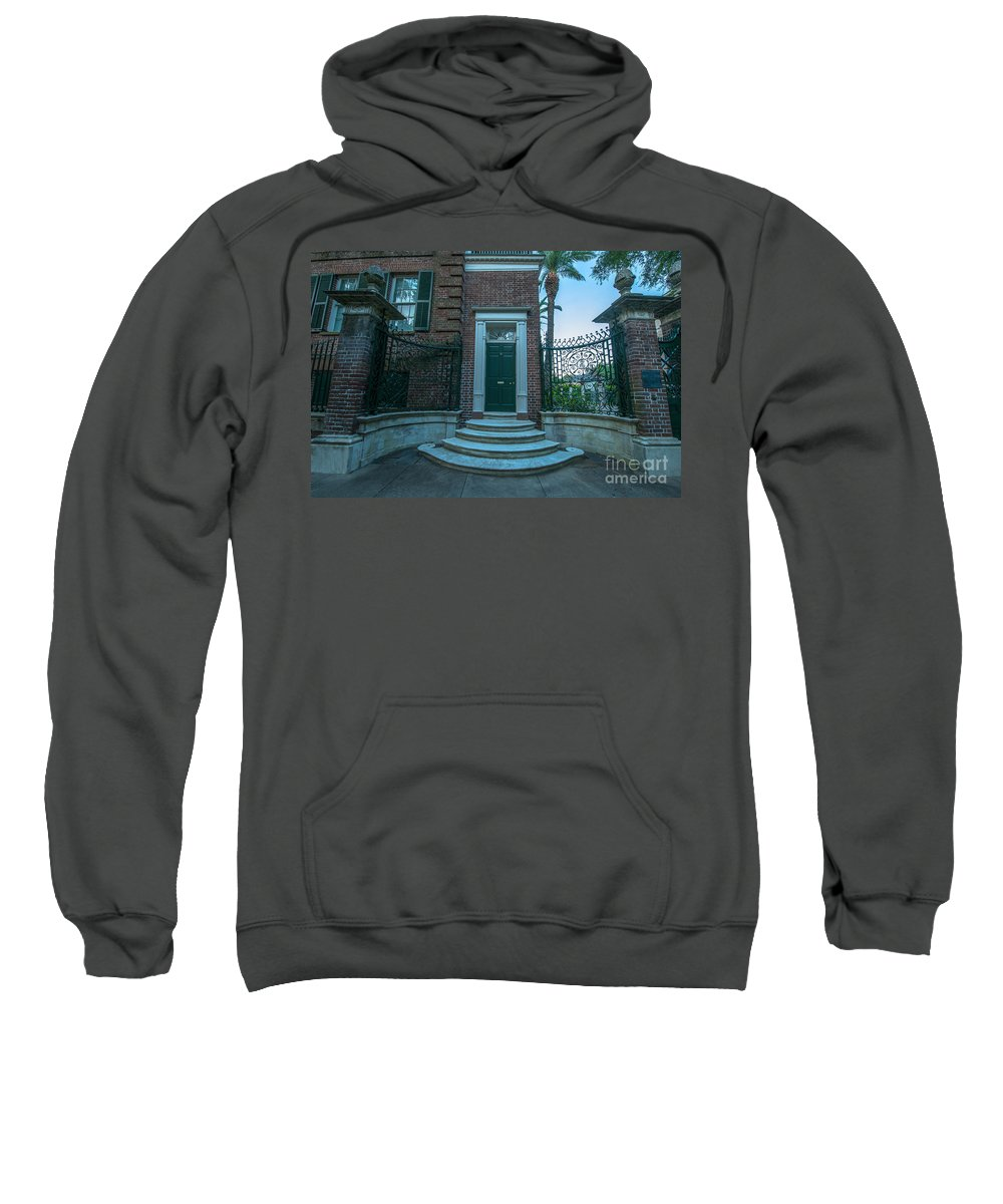 Charleston Sweatshirt featuring the photograph Legare Entrance by Dale Powell