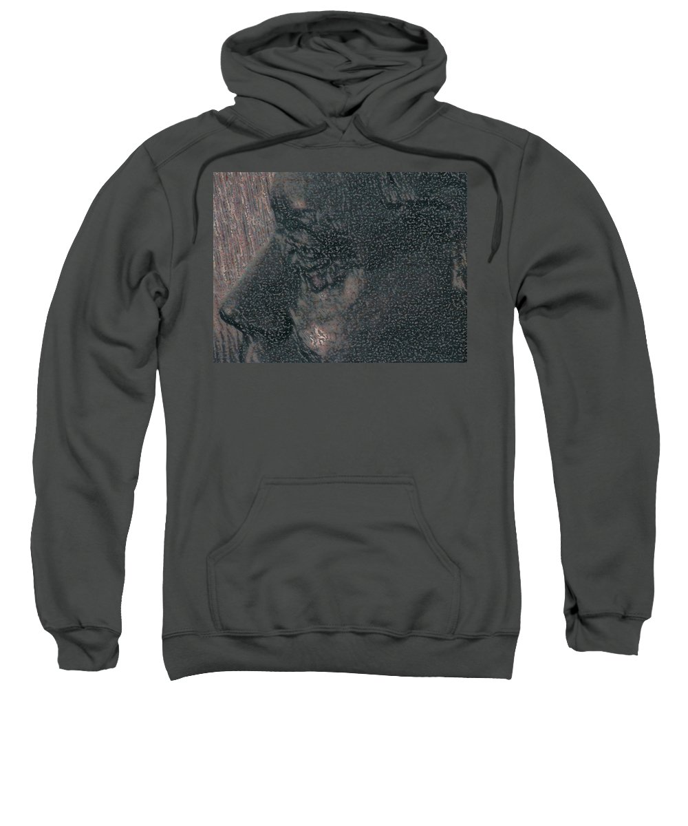 Abstract Sweatshirt featuring the photograph Lenore As Bronze 2 by Lenore Senior