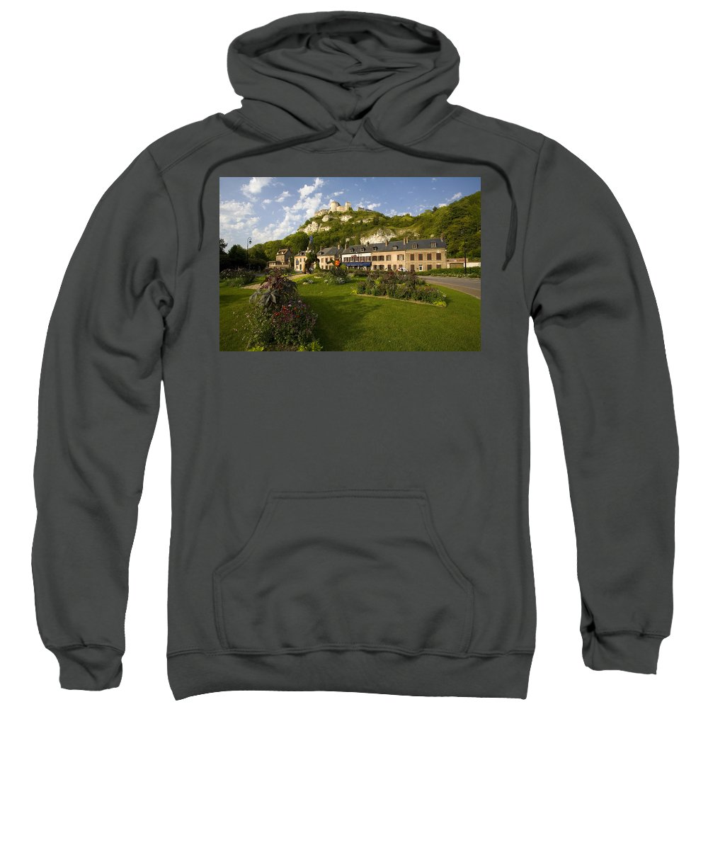 Les Andelys Sweatshirt featuring the photograph Les Andelys France by Sheila Smart Fine Art Photography