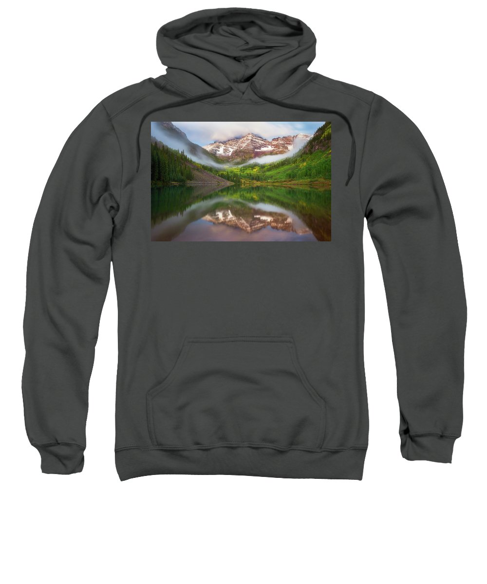 Maroon Bells Sweatshirt featuring the photograph Let The Bells Ring by Darren White