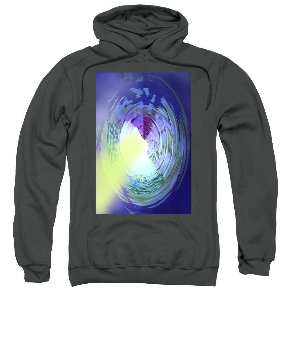 Abstract Sweatshirt featuring the digital art Let The Sun Shine In by Ian MacDonald