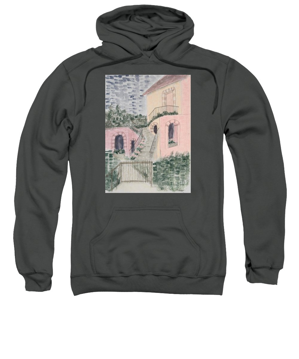 Architecture Sweatshirt featuring the painting Let Them Eat Pastel Cake by Jayne Somogy