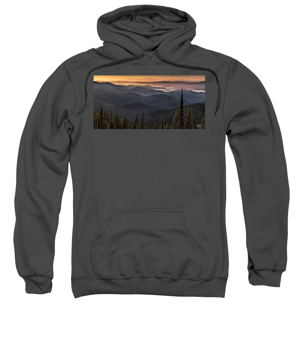 Idaho Scenics Sweatshirt featuring the photograph Lewis And Clark Route 2 by Leland D Howard