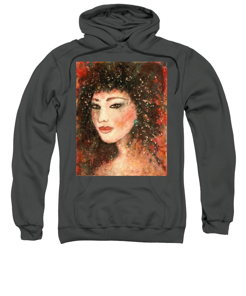 Asian Woman Sweatshirt featuring the painting Li Lin Lin Lian by Natalie Holland