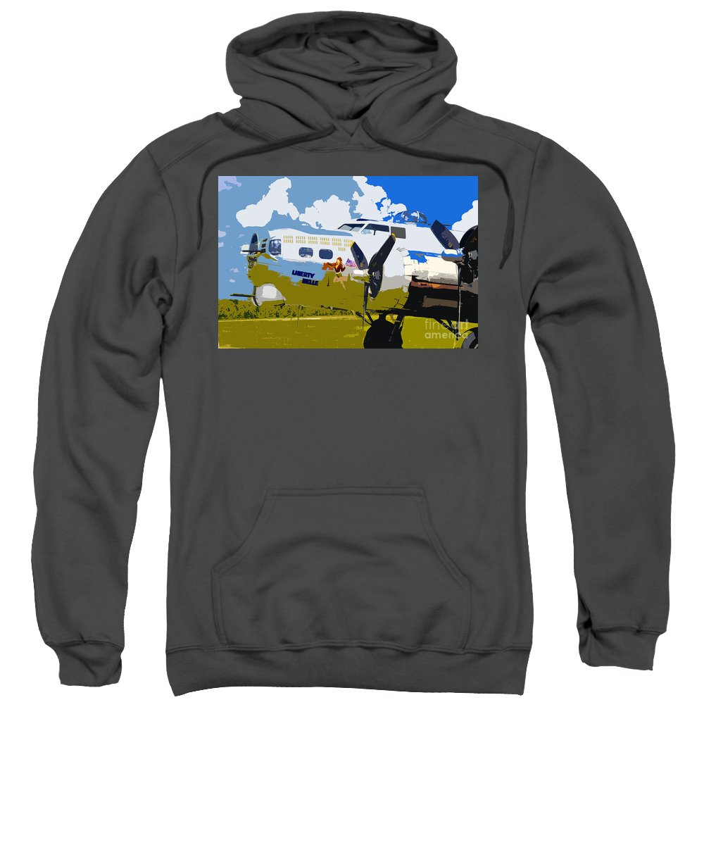 Flying Fortress Sweatshirt featuring the photograph Liberty Belle by David Lee Thompson