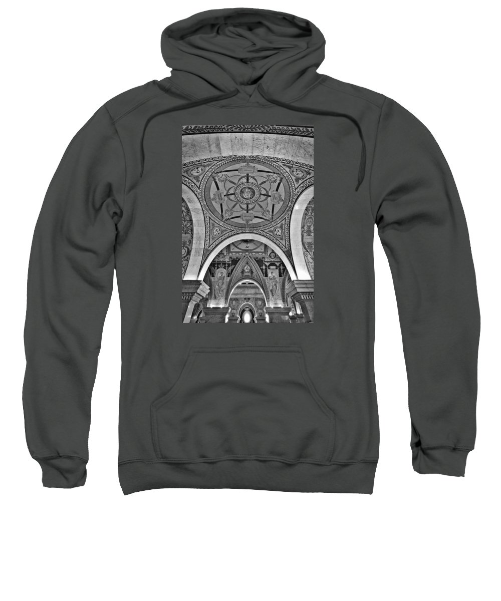 Congress Sweatshirt featuring the photograph Library Of Congress Arches And Murals by Stuart Litoff