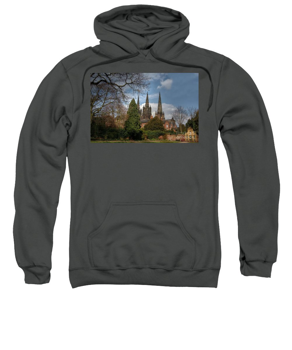 Cathedral Sweatshirt featuring the photograph Lichfield Cathedral by Mickey At Rawshutterbug