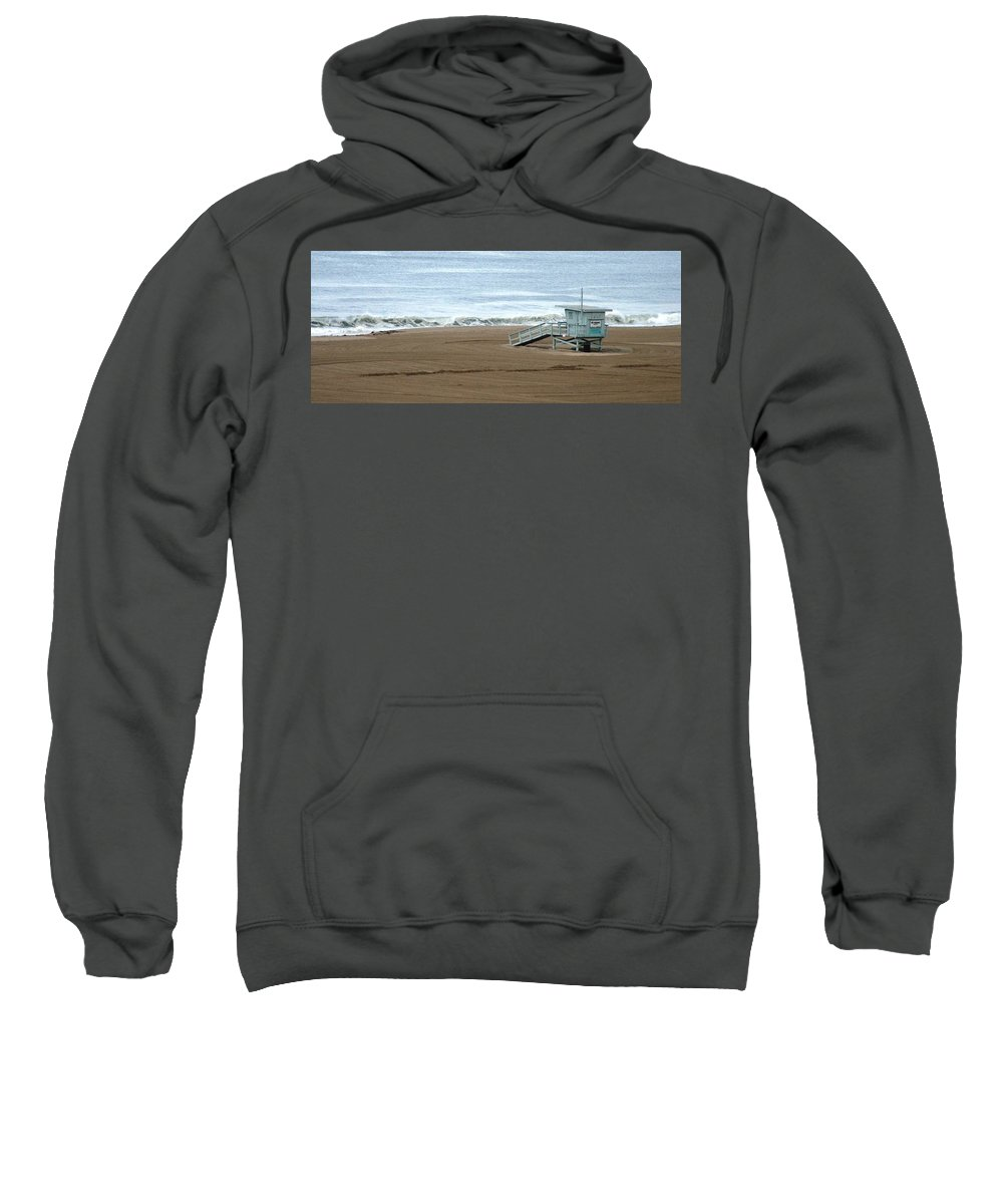 Beach Sweatshirt featuring the photograph Life Guard Stand - Color by Shari Chavira