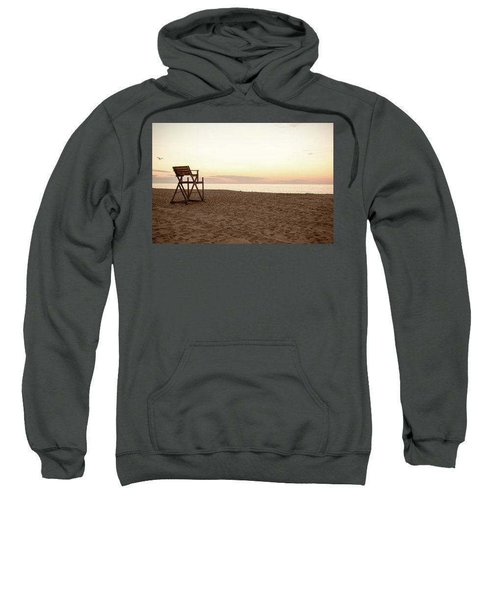 Beach Sweatshirt featuring the photograph Lifeguard Stand by Kathleen R Collins