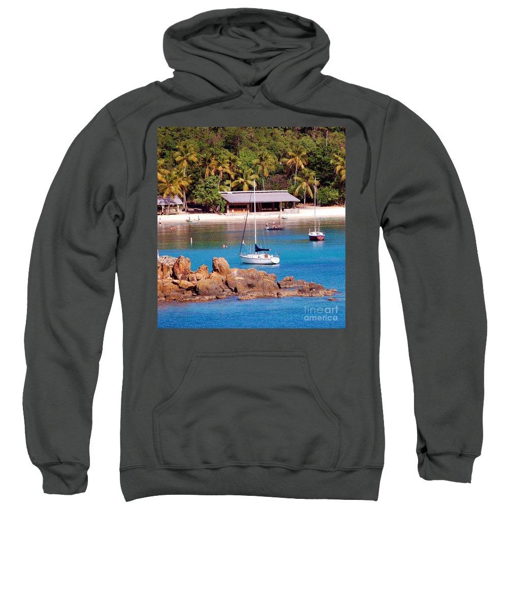 Beach Sweatshirt featuring the photograph Lifes A Beach by Debbi Granruth