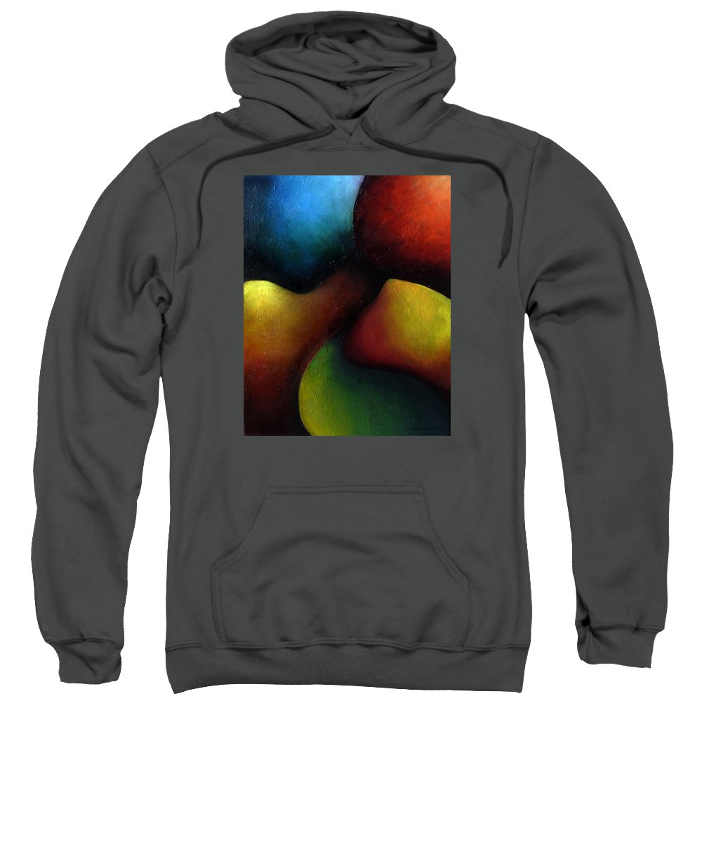 Fruit Sweatshirt featuring the painting Life's Fruit by Elizabeth Lisy Figueroa
