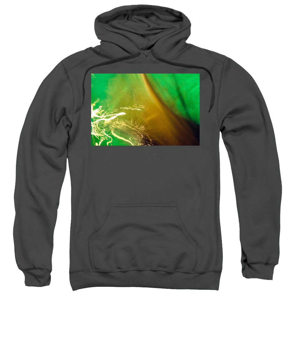 Water. Green Sweatshirt featuring the photograph Light, Leaves N Water... by Aisha Faison