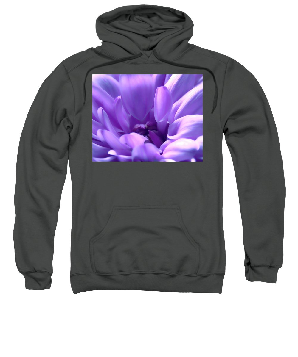 Macro Sweatshirt featuring the photograph Light Purple Beauty by Johanna Hurmerinta