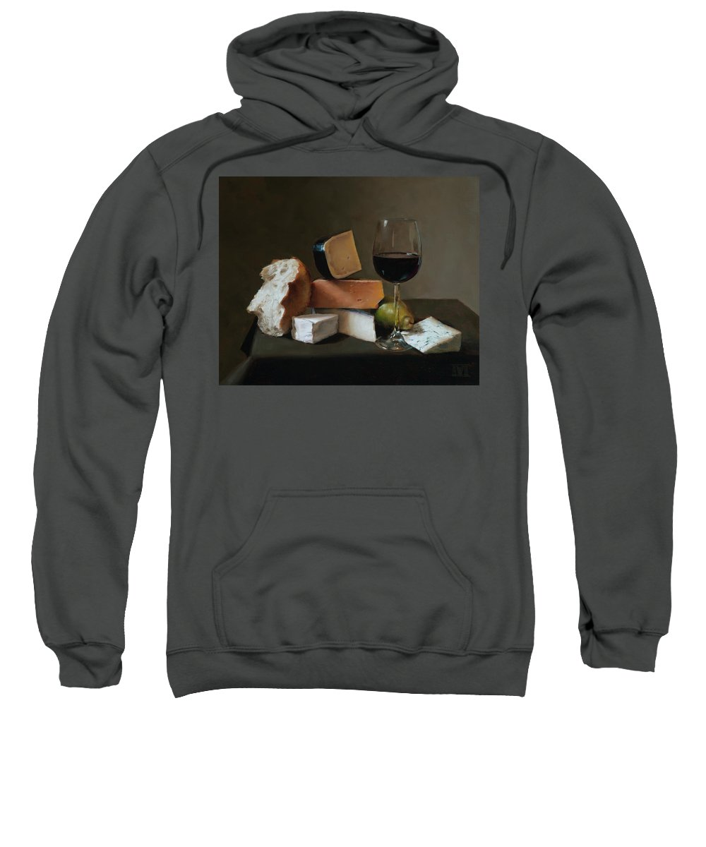 Still Sweatshirt featuring the painting Light Repast by Ernest Vincent Wood III