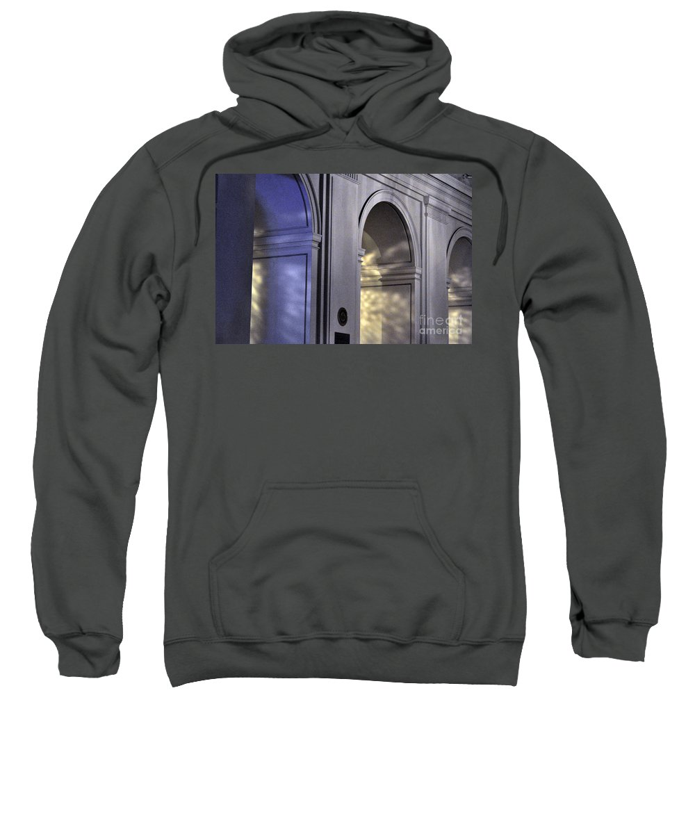 Clay Sweatshirt featuring the photograph Light Splattered Arches by Clayton Bruster