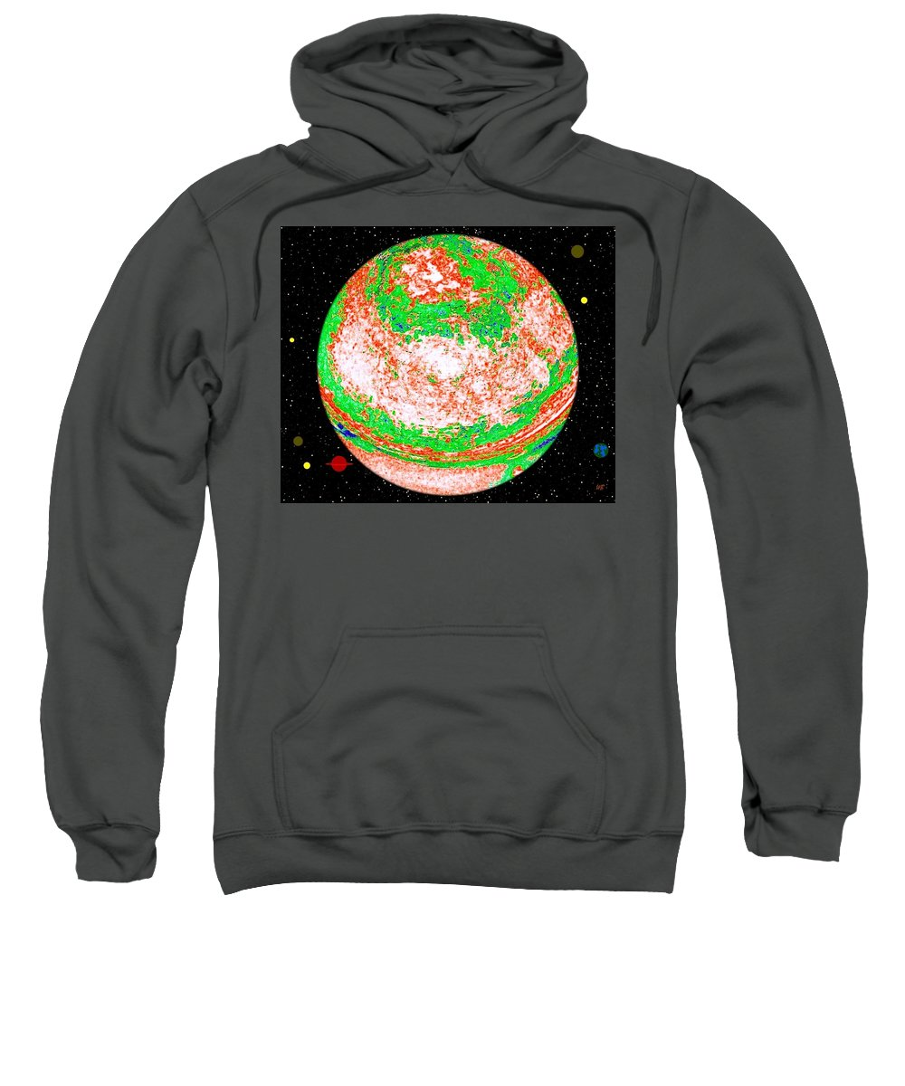 Abstract Sweatshirt featuring the digital art Light Years Away by Will Borden