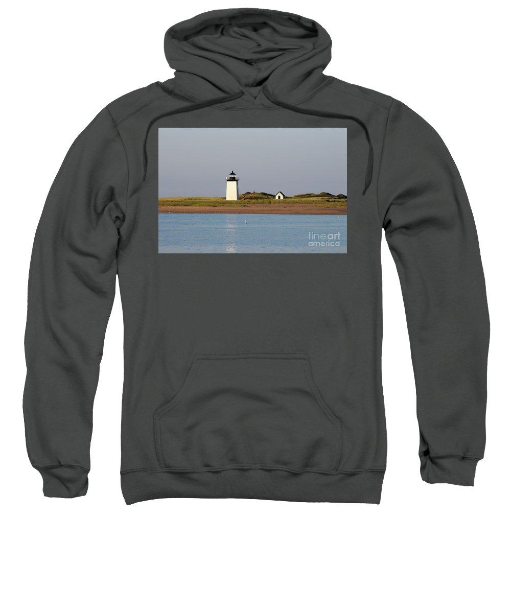 Lighthouse / Provincetown Sweatshirt featuring the photograph Lighthouse Provincetown 1 by Gregory E Dean