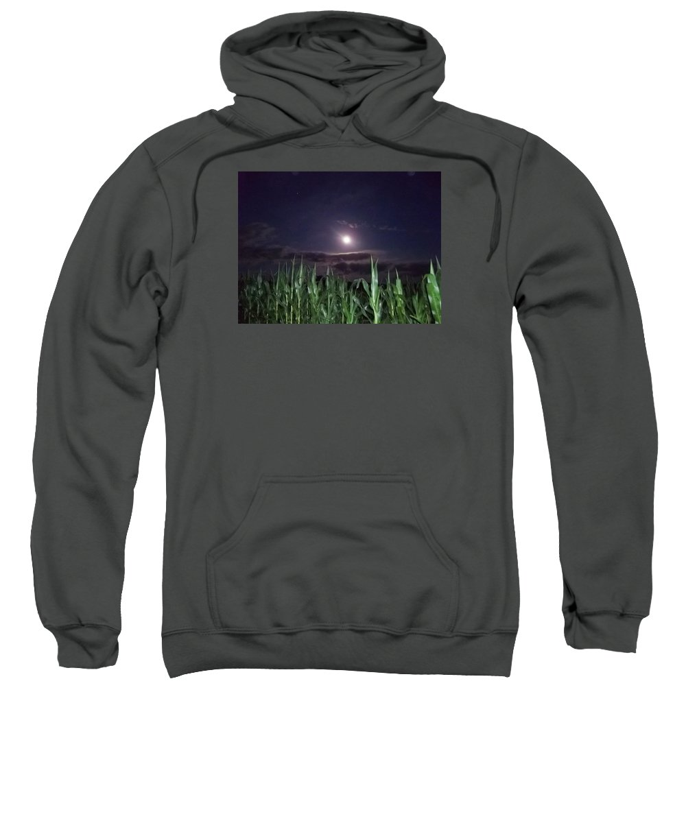 Moon Sweatshirt featuring the photograph Lighting The Way by Dawn Mullis