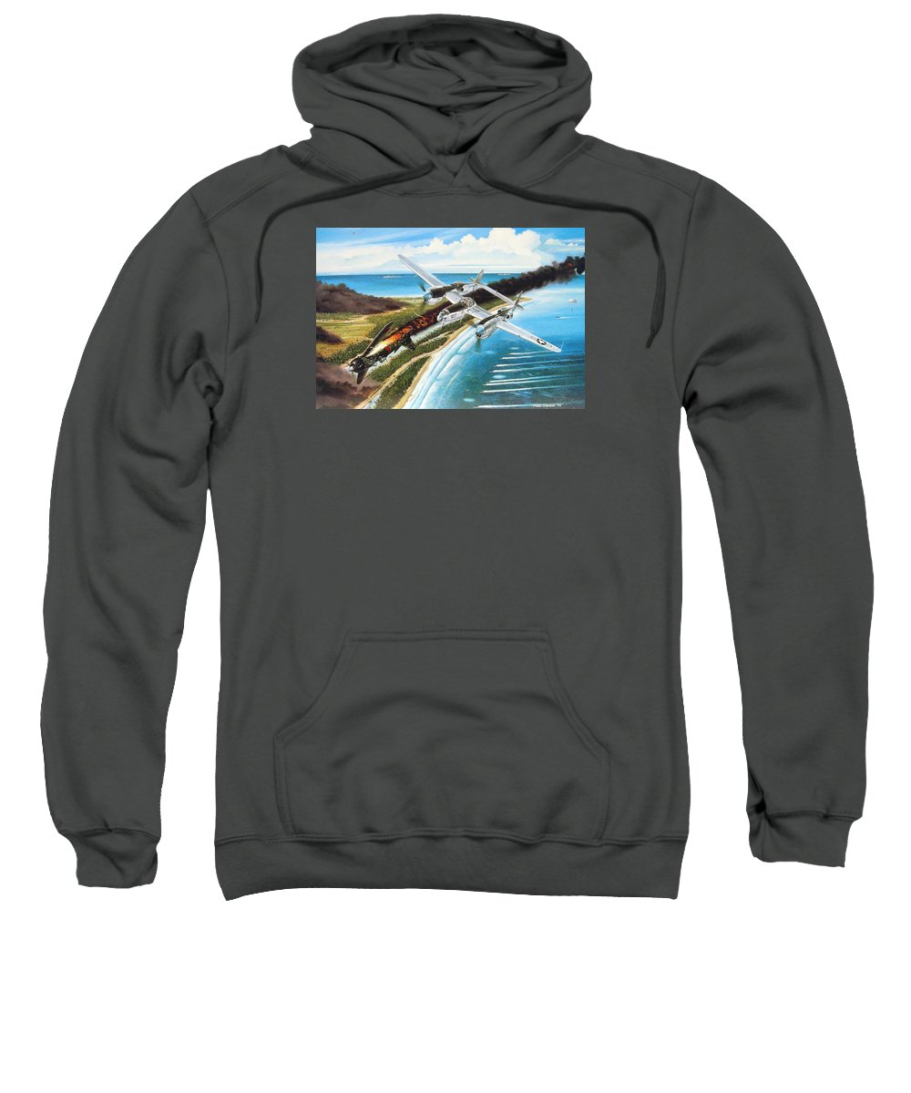 Aviation Sweatshirt featuring the painting Lightning Over Mindoro by Marc Stewart